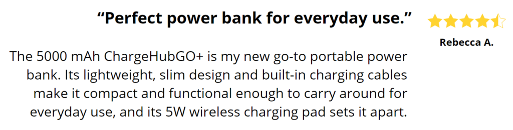 This is what people are saying about this charger
