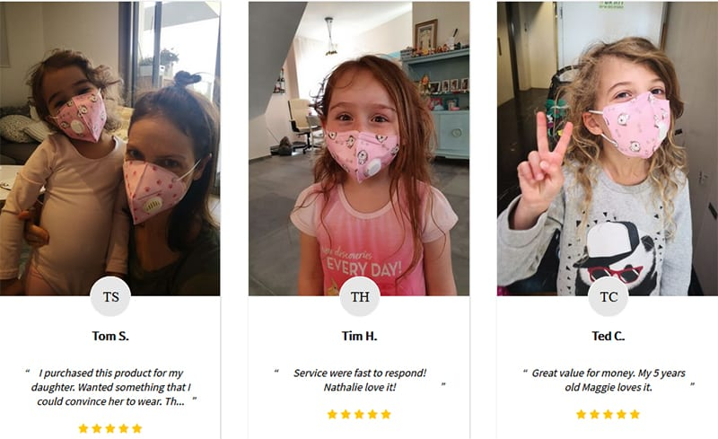Customer Review Child Face Mask