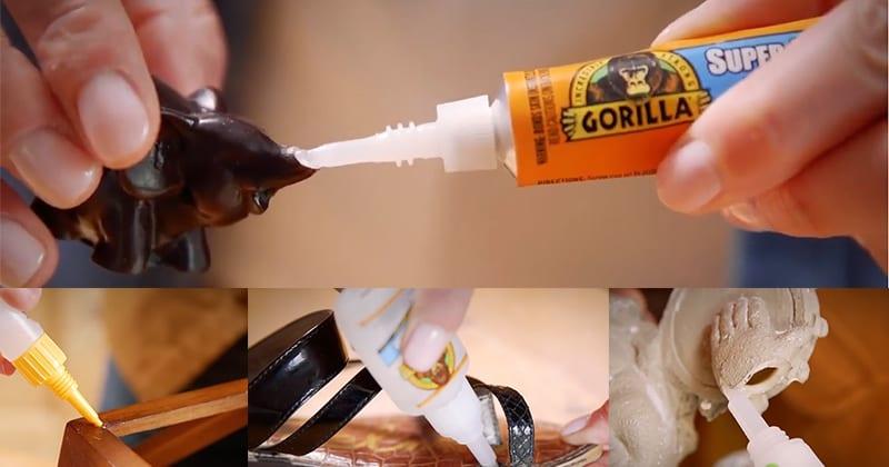 Gorilla Clear Super Glue Gel application