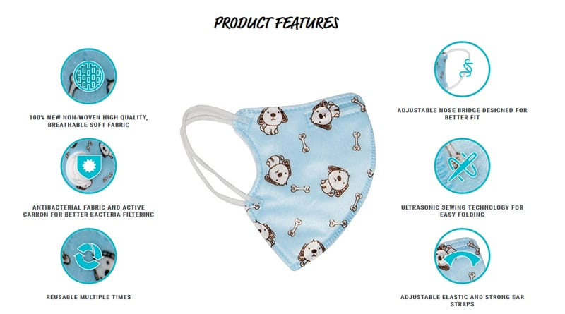 Product Features Child Face Mask