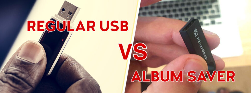 What is the difference between Album Saver and a Regular USB stick?
