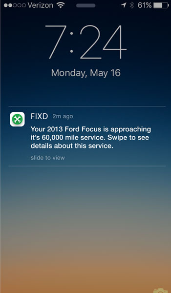 Fixd vs Elm327 Notification
