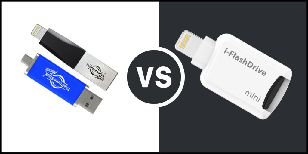 iFlash usb drive for iPhone vs Photo Stick for iPhone
