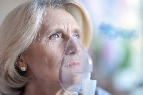 elderly breathing