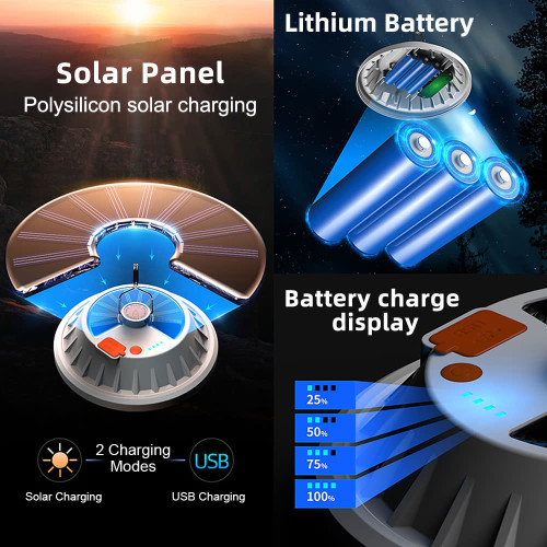 Solar lanter with lithium battery