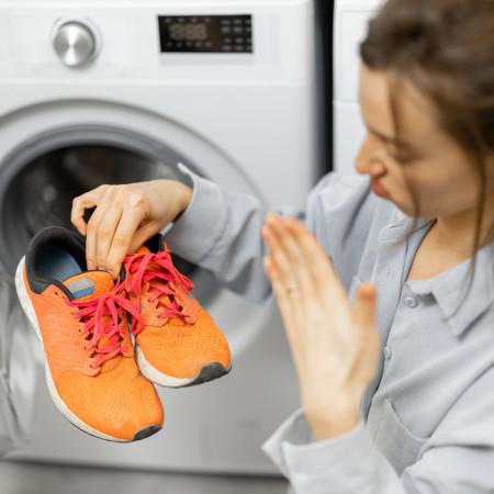 Washing shoes in machine